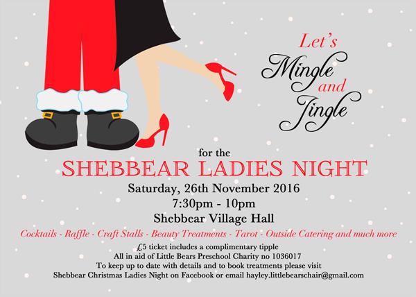 shebbear ladies night 2016 little bears pre school. Black Bedroom Furniture Sets. Home Design Ideas